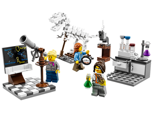 The limited edition Lego Research Institute set featuring female scientists sold out within a day. (Source)