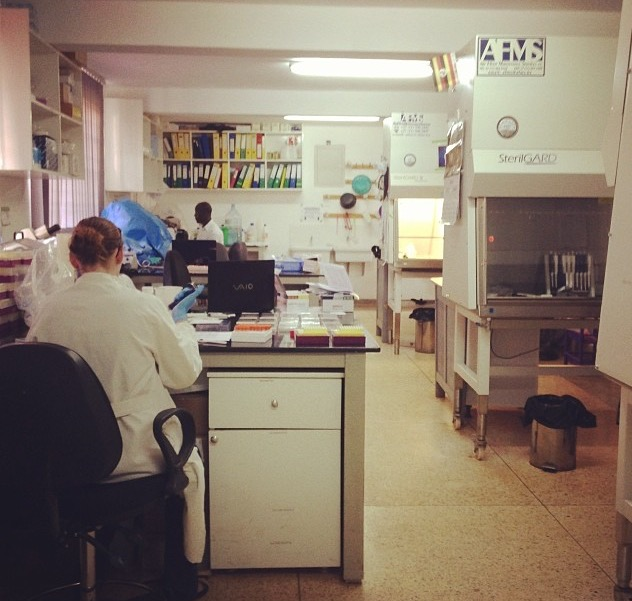 The laboratory in the antenatal clinic in Tororo, Uganda (Credit: Chloe McDonald)